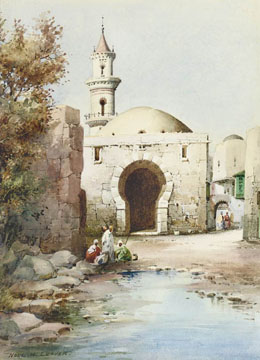 Arabs before a Mosque