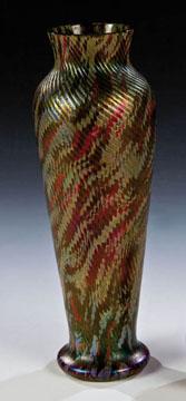 Irredescent Vase by Joseph Rindskorpf