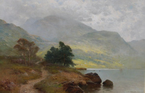 A highland path by a Loch