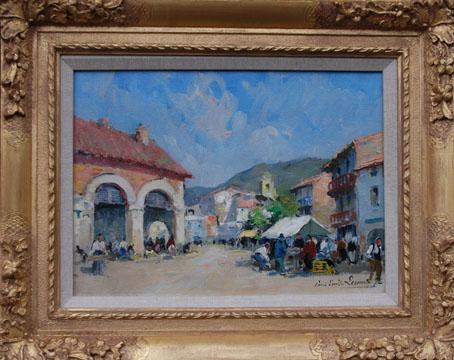 A Market Scene in  France