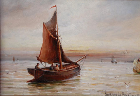 A fishing boat leaving Port