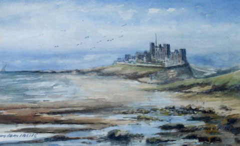 Bamburgh Castle from the North