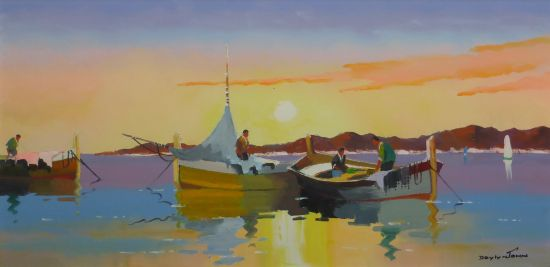 Dawn Fisherman, St Tropez