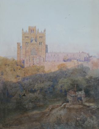 Durham Cathedral from South Street 1896