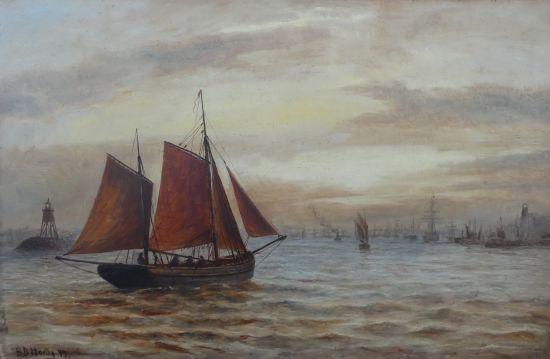 Fishing boat entering the Tyne