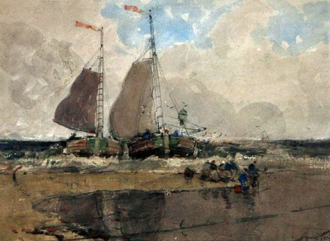 The Landing, Dutch Fishing Boats