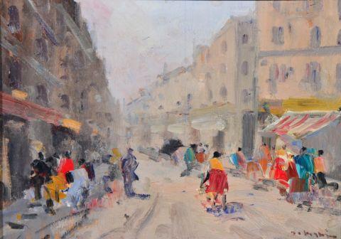 Impressionist Italian Street Scene