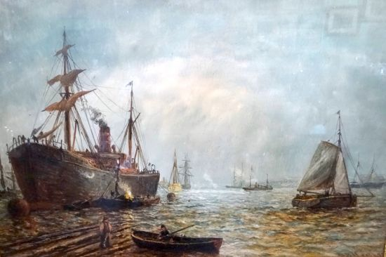 Shipping  and boats on the Tyne