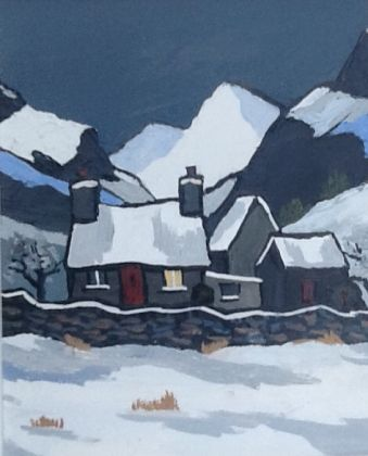 Snowdonia hill farm winter