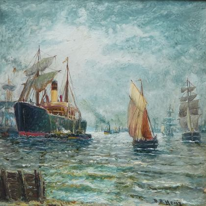 Steamer on the Tyne