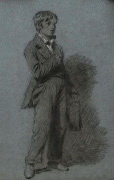 A drawing of John Evans