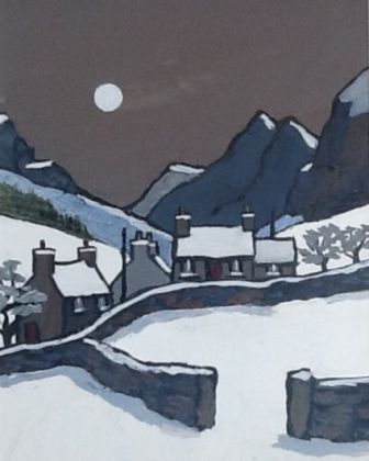 Winter moonlight in the Hills