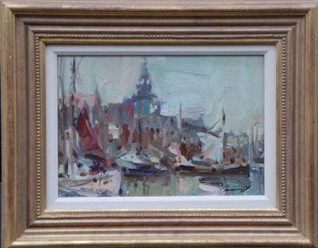 Impressionist Harbour Scene