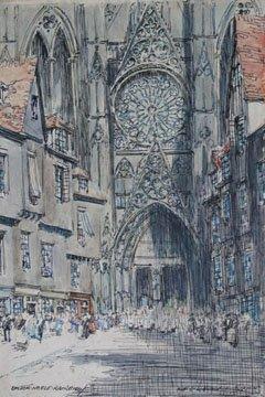Rue D'Horlage, Rouen, France