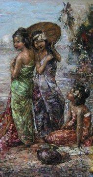 Three Burmese Girls