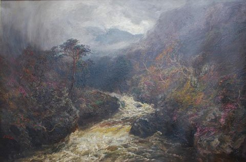 A Highland Stream in Spate