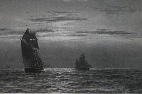Sailing Boat and Steam Tug