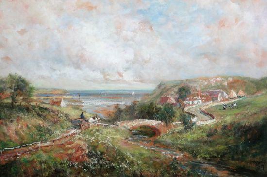 A cart on a coastal path