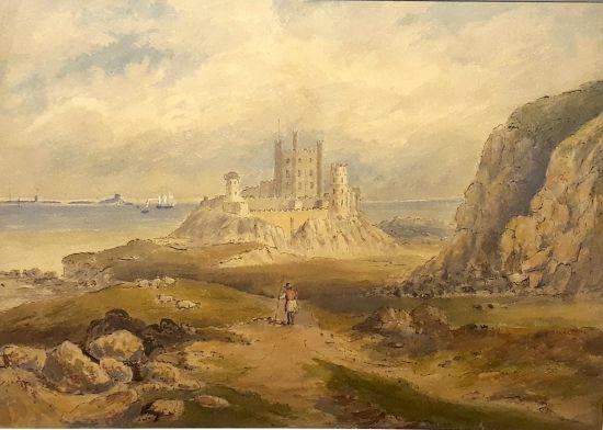 A shepherd at Bamburgh Castle