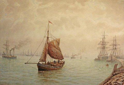A Skiff on the Tyne