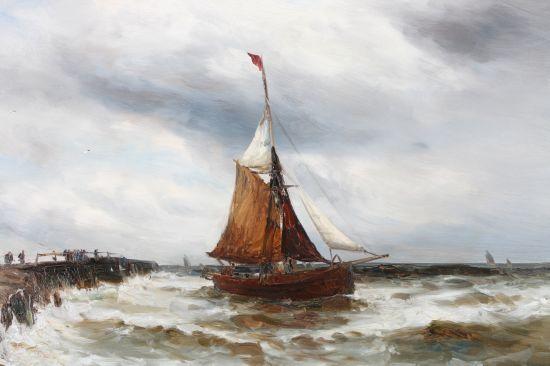 Fishing Boat and Coastline
