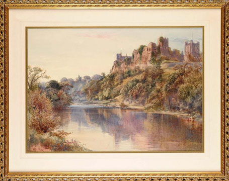 Richmond Castle from the Swale