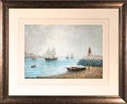 A Sailing ship entering the Tyne
