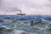 Sailing Ship off the North East Coast