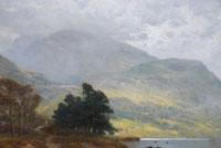A highland path by a Loch