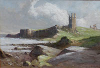 Dunstanburgh Castle from the beach