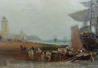 Unloading ships at North Shields