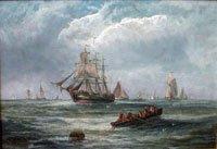 Sailing Ship and Rowing boat